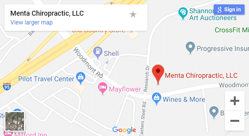 Map of Milford Chiropractors
